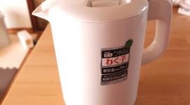 赤ちゃんのミルク用にタイガー製蒸気レス電気ケトル「わく子」大活躍